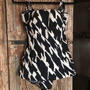 Vintage Jantzen black and white swimsuit